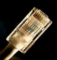 CAT5 cable with an RJ-45 connector