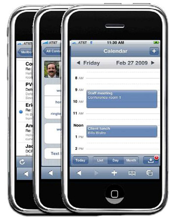 Lotus Notes Traveler 8.5.1 on an iPhone