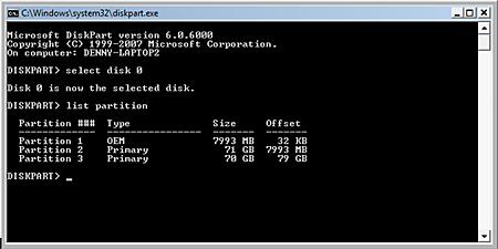Using disk partition in SQL Server
