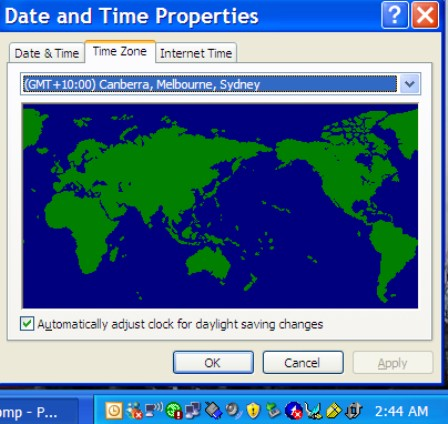 Windows xp timezone patch.