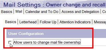 mail file ownership