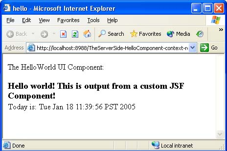 ... example, using standard JSF converters, custom converter creation