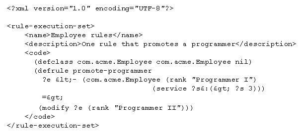 Jess and the javaxrules API – Xml Programmer